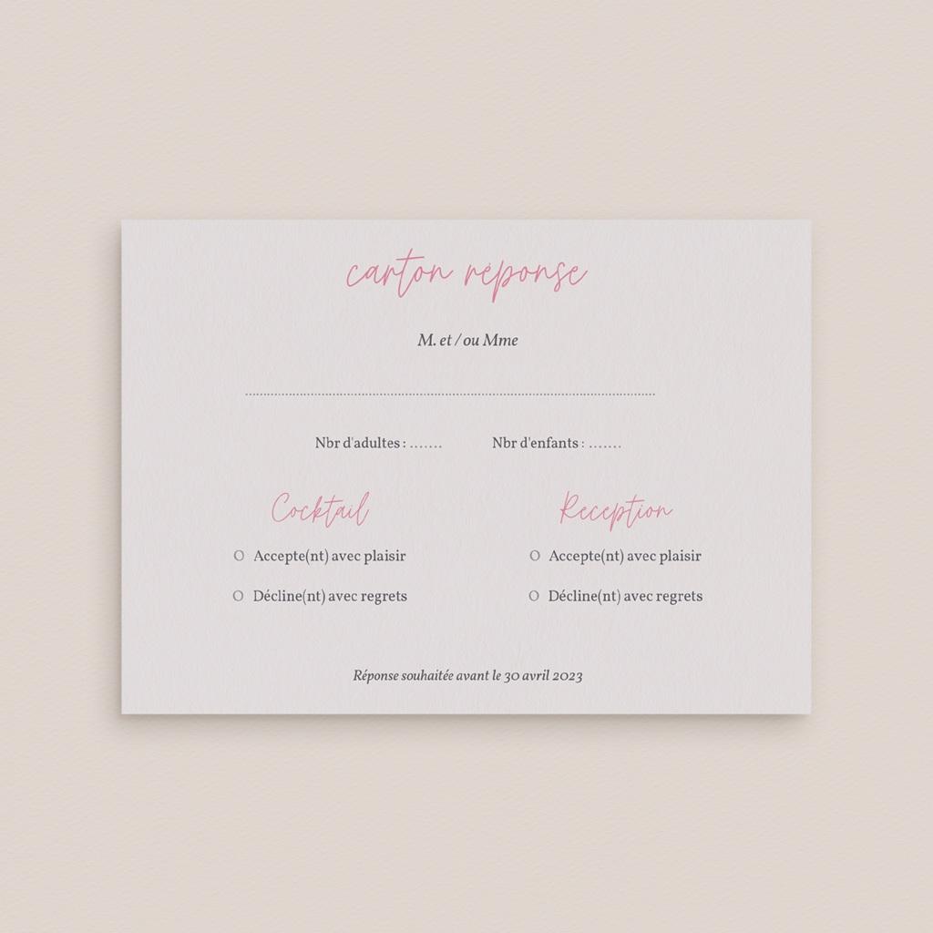 Carton réponse mariage Youpi, votre réponse ! gratuit