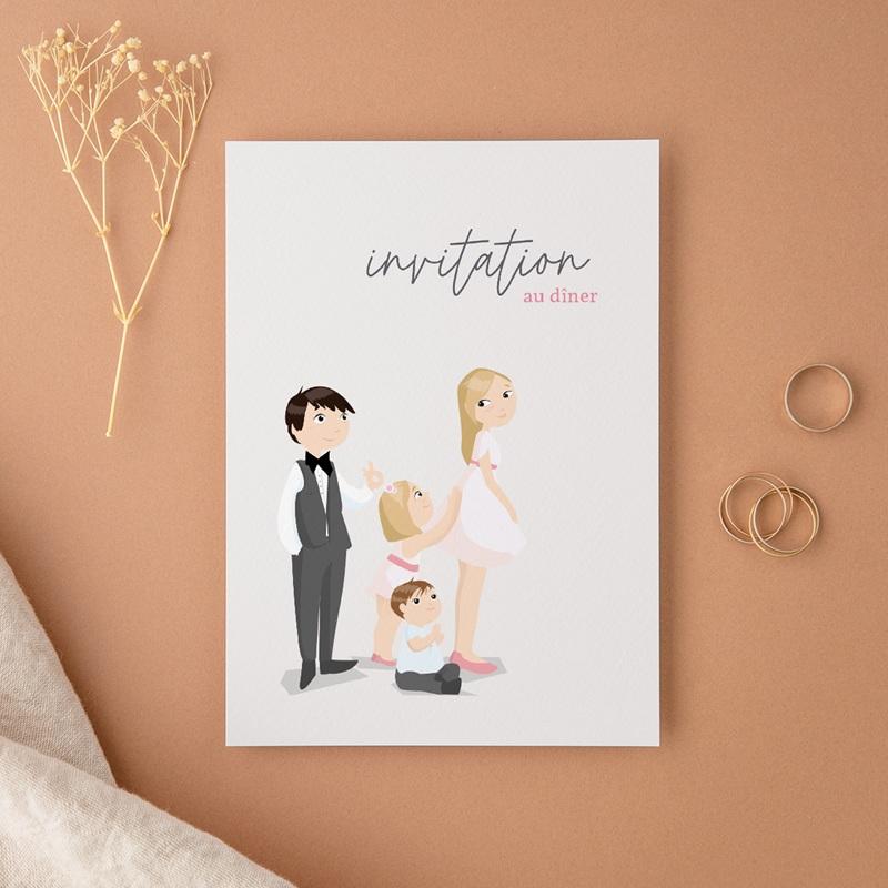 Carte d'invitation mariage Youpi, dîner