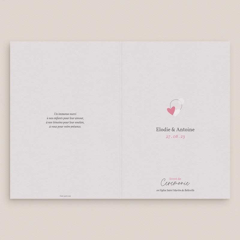 Livret de messe mariage Youpi, 15 x 22 cm gratuit