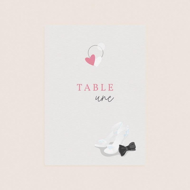 Marque table mariage Youpi, 3 repères de table