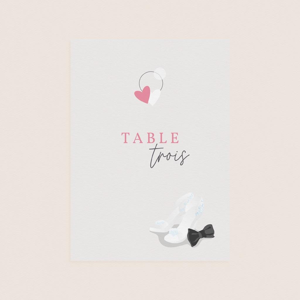 Marque table mariage Youpi, 3 repères de table pas cher