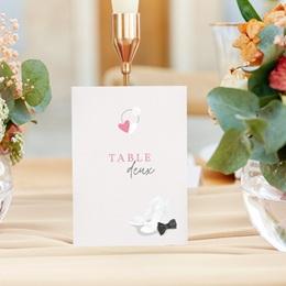 Marque table mariage Youpi, 3 repères de table gratuit