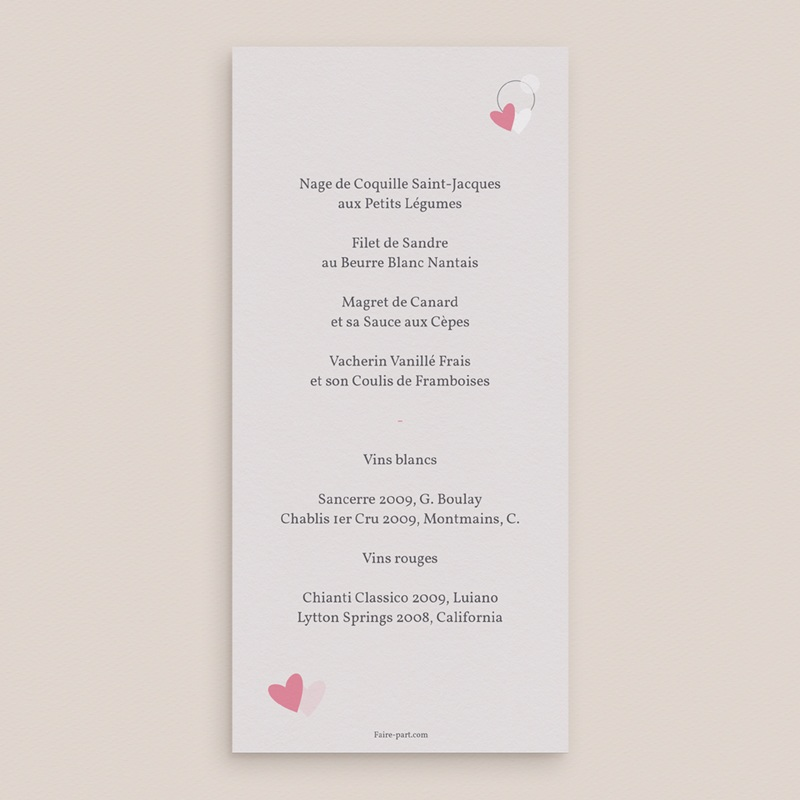 Menu mariage Youpi, repas de noces pas cher