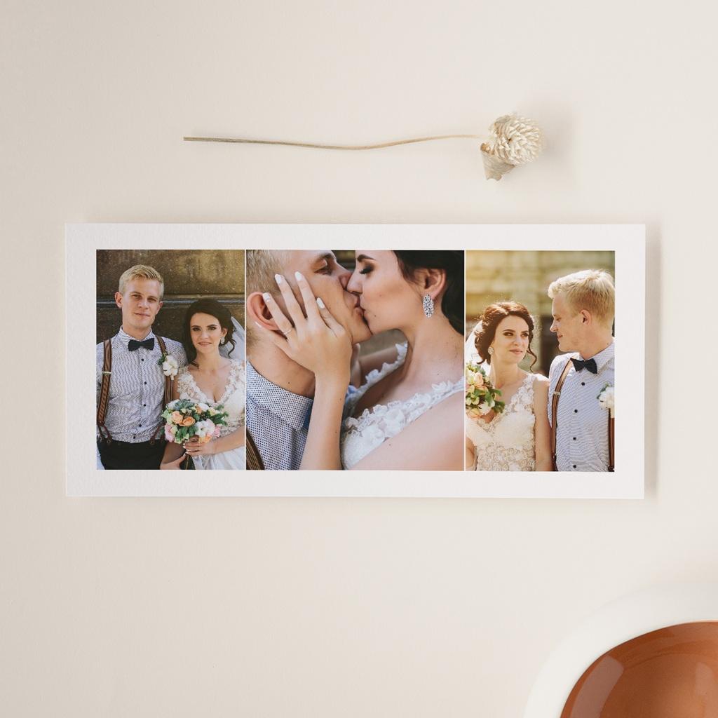 Carte de remerciement mariage Youpi, 3 photos