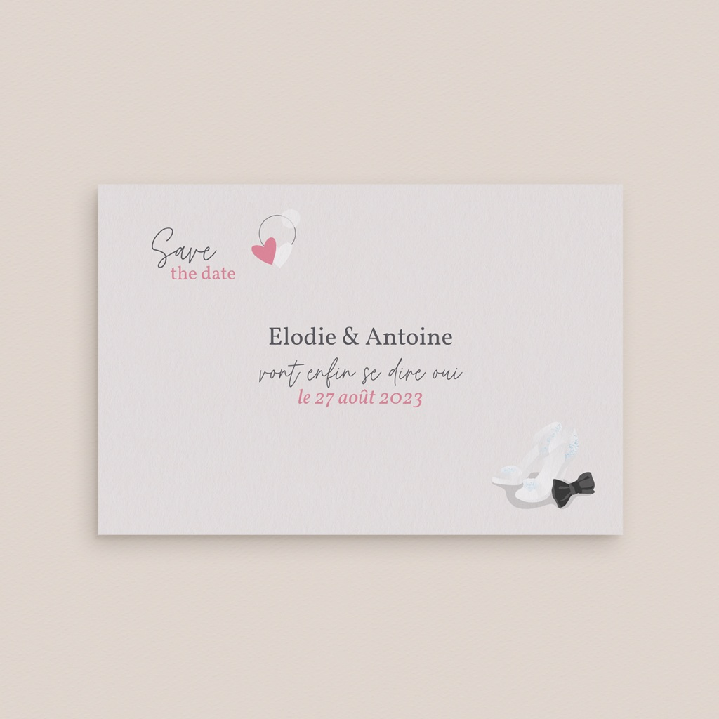 Save-the-date mariage Youpi, Jour J
