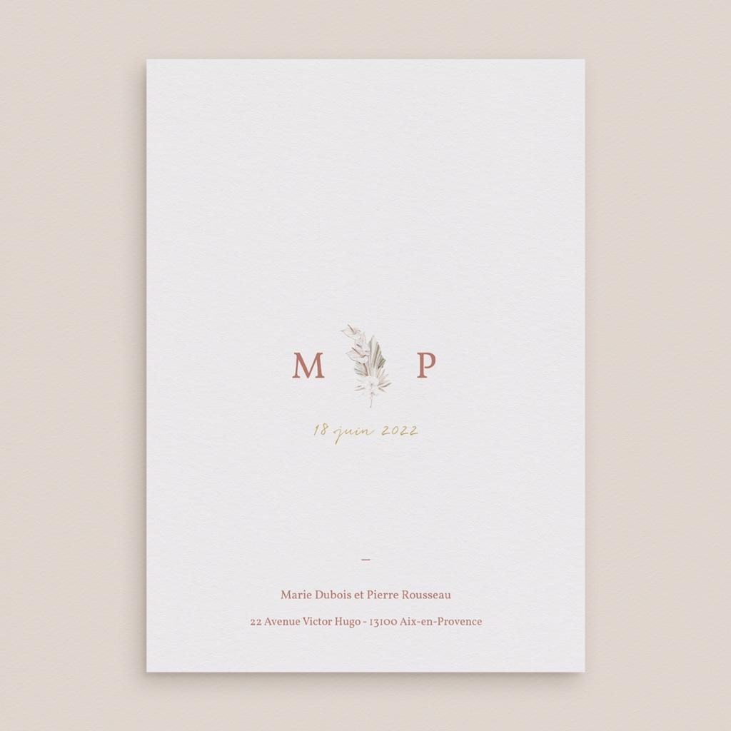 Faire-part de mariage Bois de Santal, Grand Format, 15 cm x 21 cm pas cher
