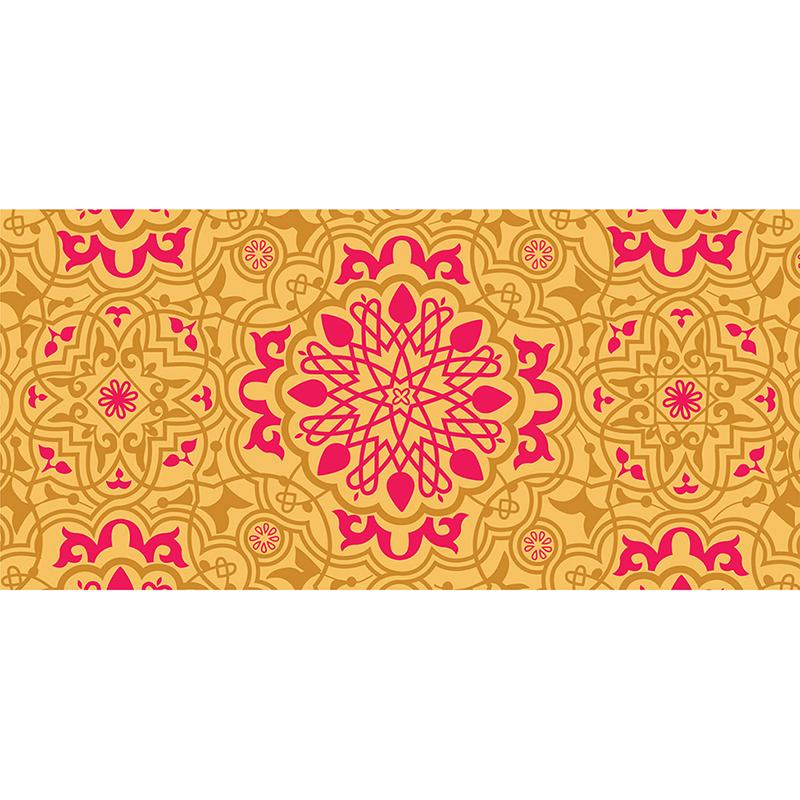 Faire-part de mariage Mauresque rose jaune pas cher