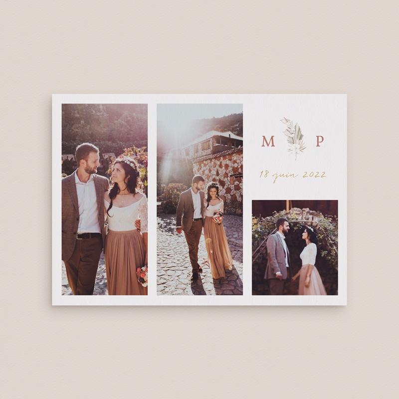 Carte de remerciement mariage Bois de Santal, 3 photos gratuit