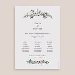 Faire-part de mariage Champêtre, 15 cm x 21 cm pas cher