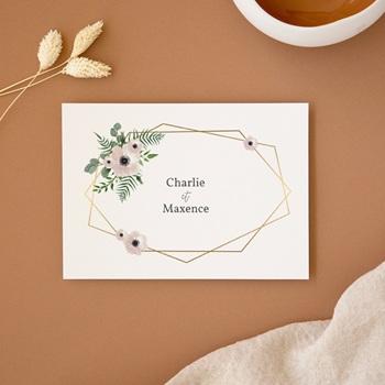 Carte d'invitation mariage saisons