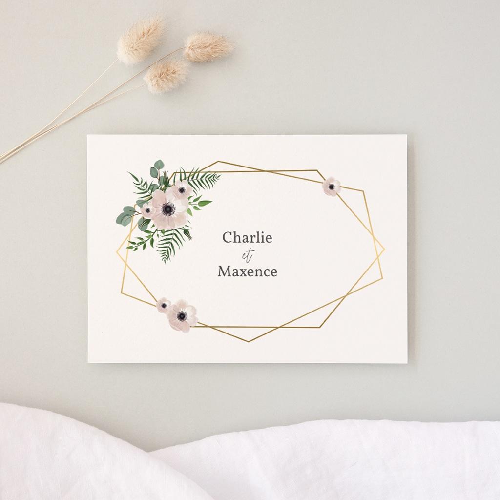Carte d'invitation mariage Champêtre, Réception