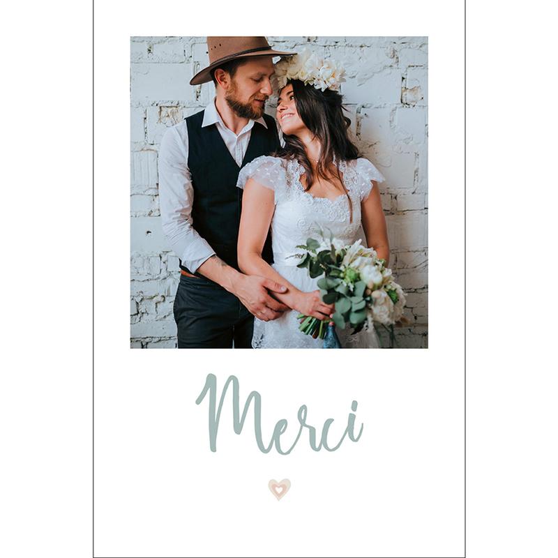 Carte de remerciement mariage Sweet Wedding pas cher