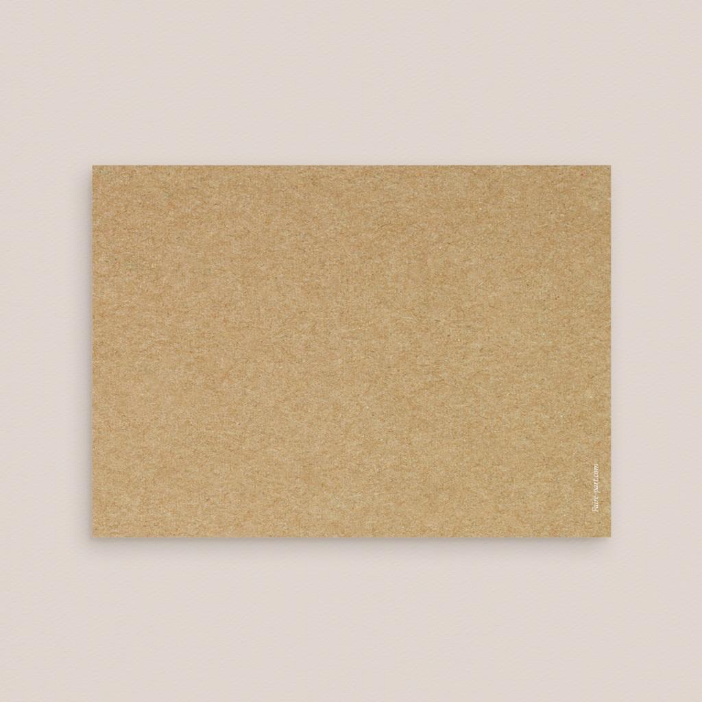 Carton réponse mariage Perfect Day Kraft, Rsvp Card pas cher