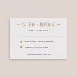 Carton réponse mariage Perfect Day Kraft, Rsvp Card gratuit