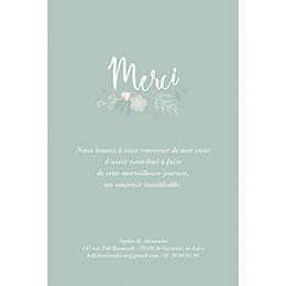 Carte de remerciement mariage Sweet Wedding gratuit