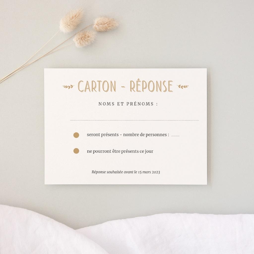 Carton réponse mariage Perfect Day Kraft, Rsvp Card