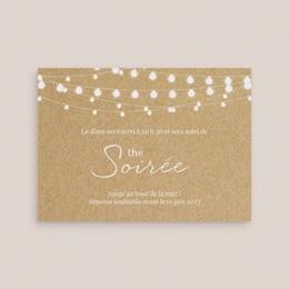 Carte d'invitation mariage Perfect Day Kraft, Soirée & Photo gratuit