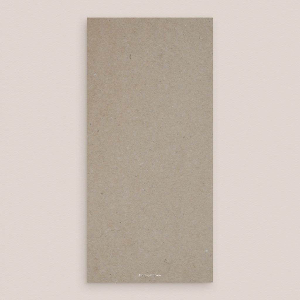 Menu mariage Couronne Olivier Naturel, 10 x 21 cm pas cher