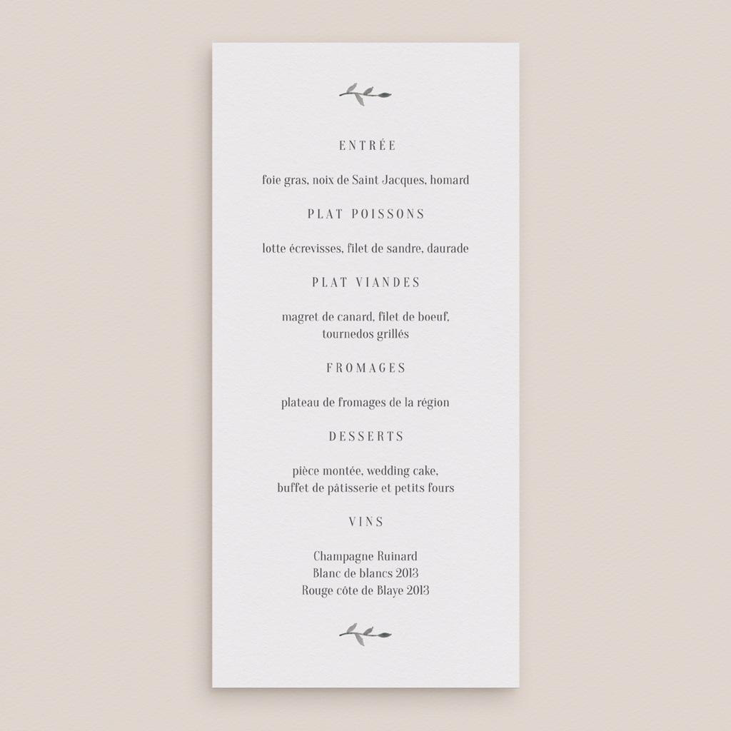 Menu mariage Couronne Olivier Naturel, 10 x 21 cm gratuit
