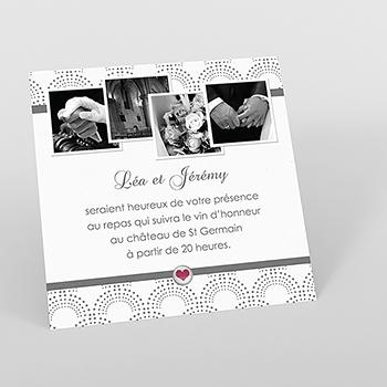 Carte d'invitation mariage Complicité