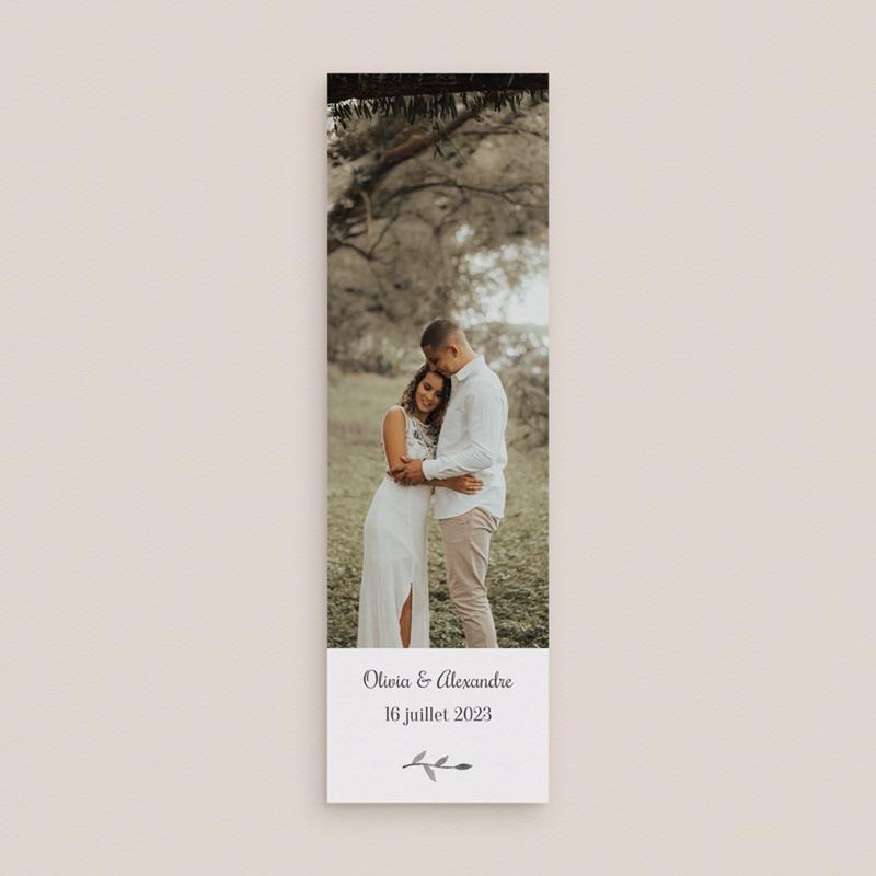 Carte de remerciement mariage Couronne Olivier Naturel, 2 en 1 gratuit