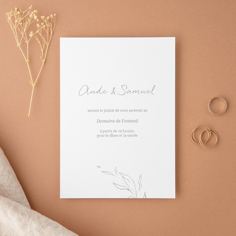 Carte d'invitation mariage Kinfolk, Diner & Soirée