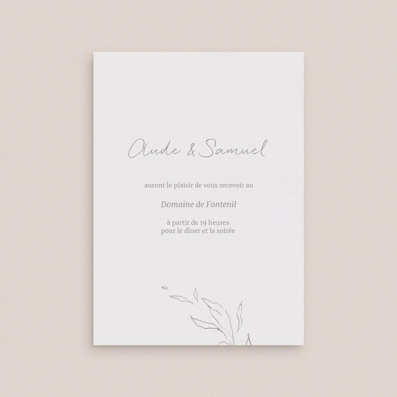 Carte d'invitation mariage Kinfolk, Diner & Soirée gratuit