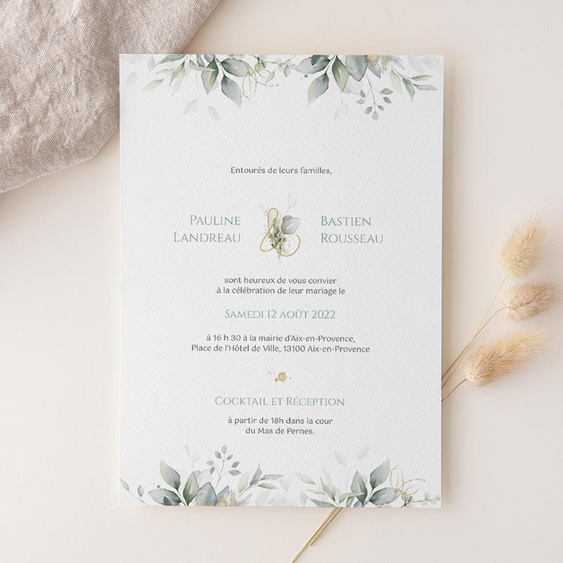 Faire-part de mariage Provence Champêtre, 15 x 21 cm