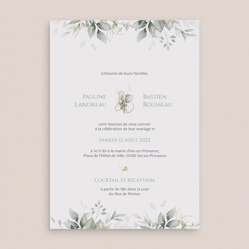 Faire-part de mariage Provence Champêtre, 15 x 21 cm gratuit