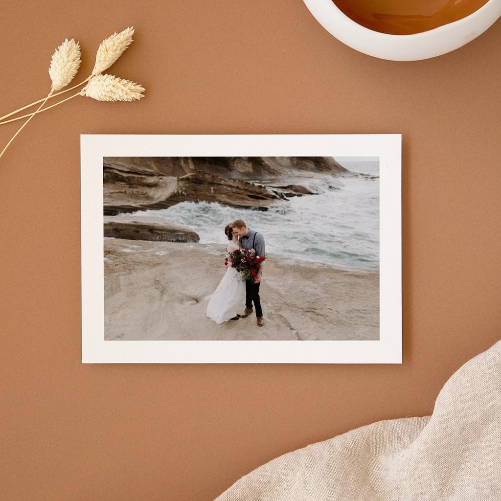 Carte de remerciement mariage Kinfolk, Portrait des mariés