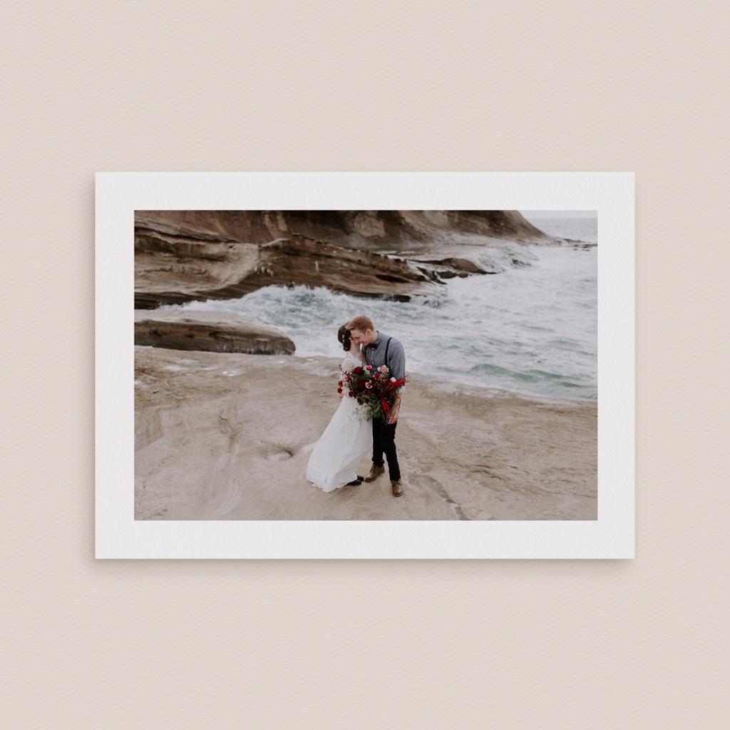 Carte de remerciement mariage Kinfolk, Portrait des mariés gratuit
