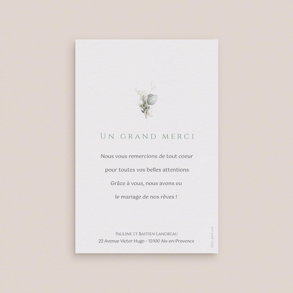 Carte de remerciement mariage Provence Champêtre, Photo pas cher