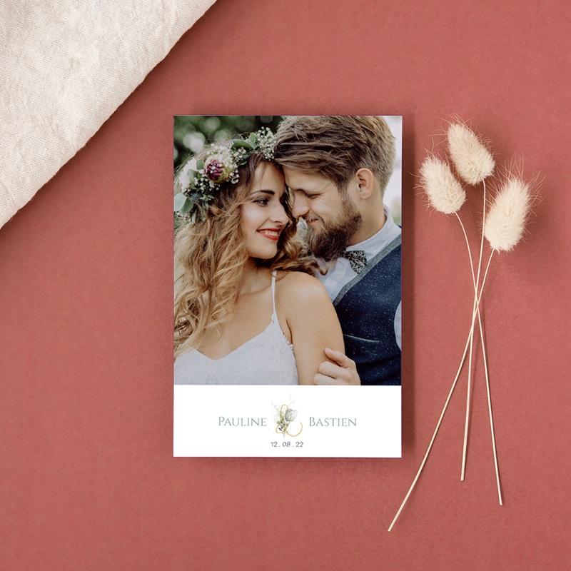 Carte de remerciement mariage Provence Champêtre, Photo gratuit