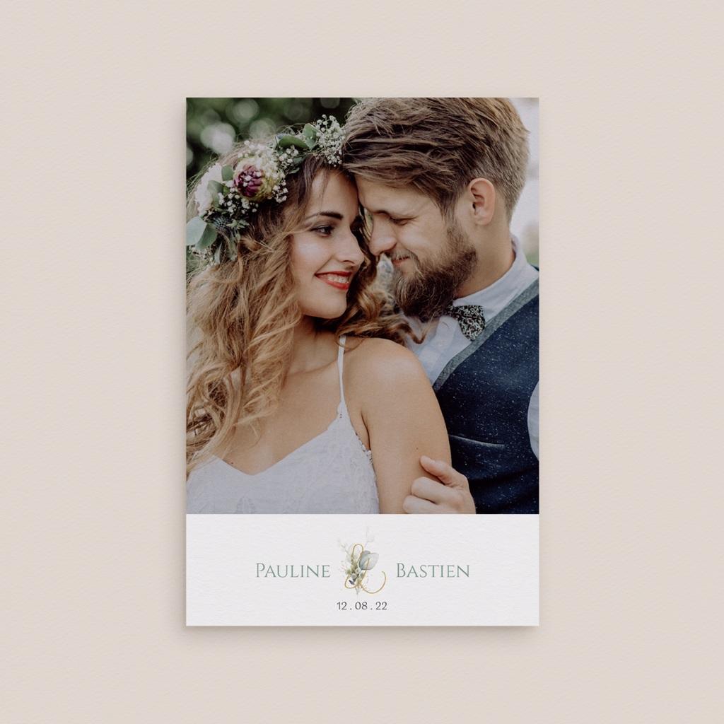 Carte de remerciement mariage Provence Champêtre, Photo