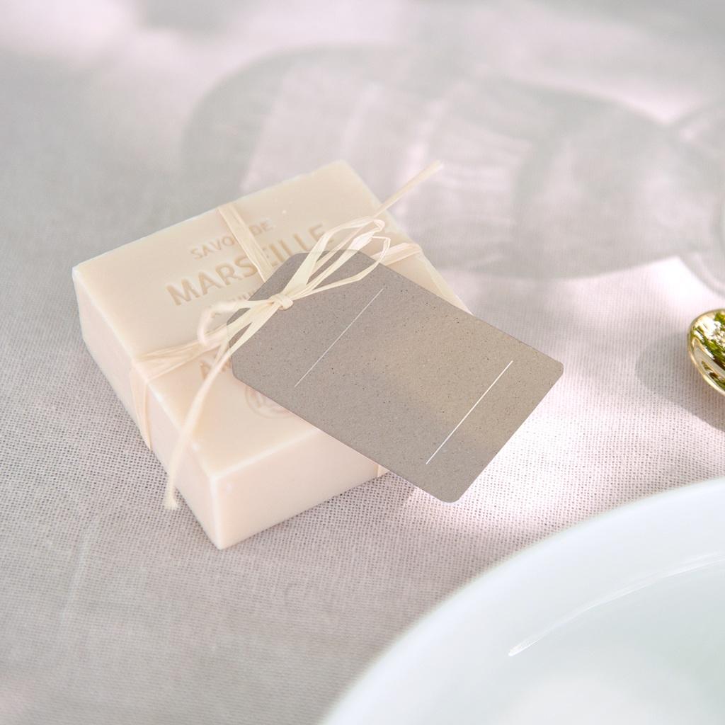 Marque-place mariage Kraft Folk, Invité Placé