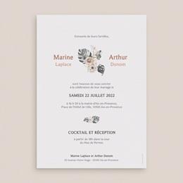 Faire-part de mariage Bohème Fleuri 15 x 21 cm pas cher