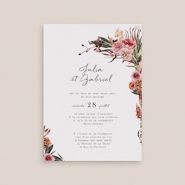 Faire-part de mariage Arche de fleurs pourpres, 12 x 16,7 cm gratuit