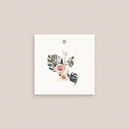 Marque-place mariage Bohème Fleuri, Invité, 4,5 x 4,5 cm pas cher