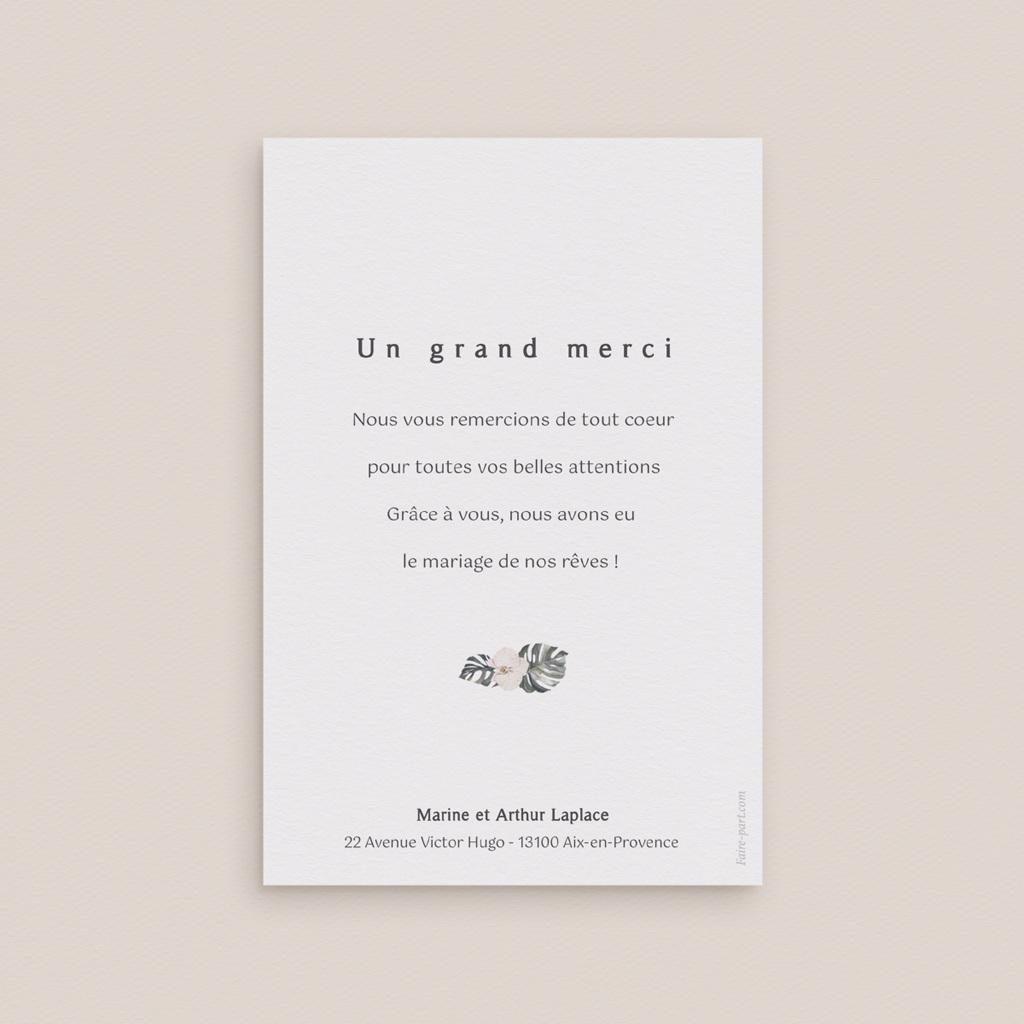 Carte de remerciement mariage Bohème Fleuri, 4 photos, 10 x 15 cm pas cher