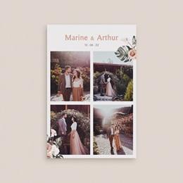 Carte de remerciement mariage Bohème Fleuri, 4 photos, 10 x 15 cm