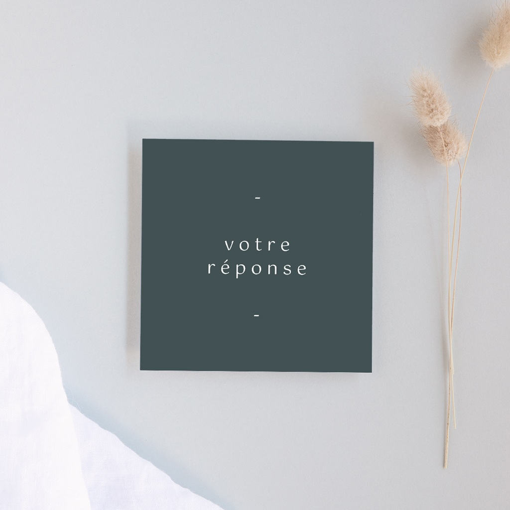 Carton réponse mariage Matcha, Rsvp, 10 x 10