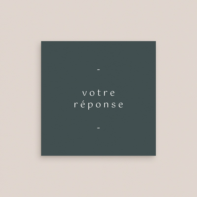 Carton réponse mariage Matcha, Rsvp, 10 x 10 gratuit