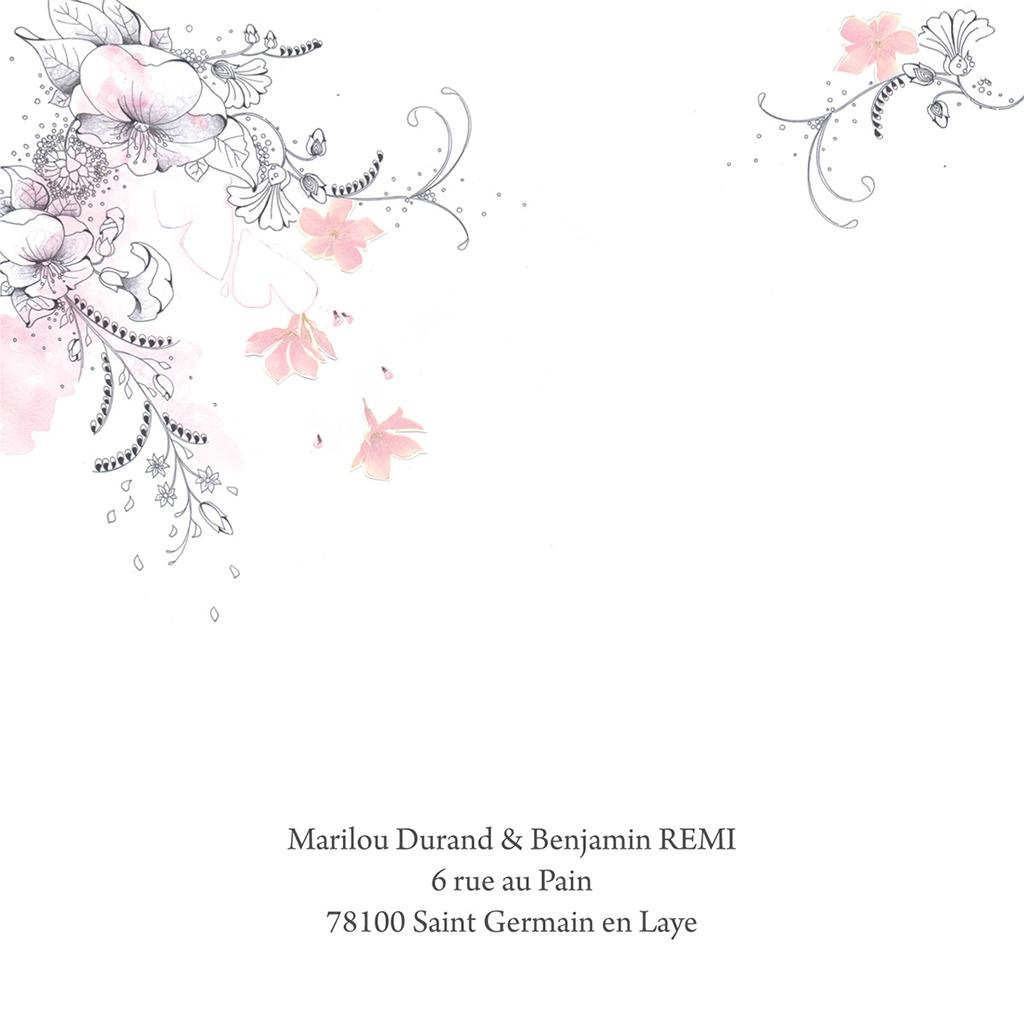 Faire-part de mariage Rêverie  gratuit