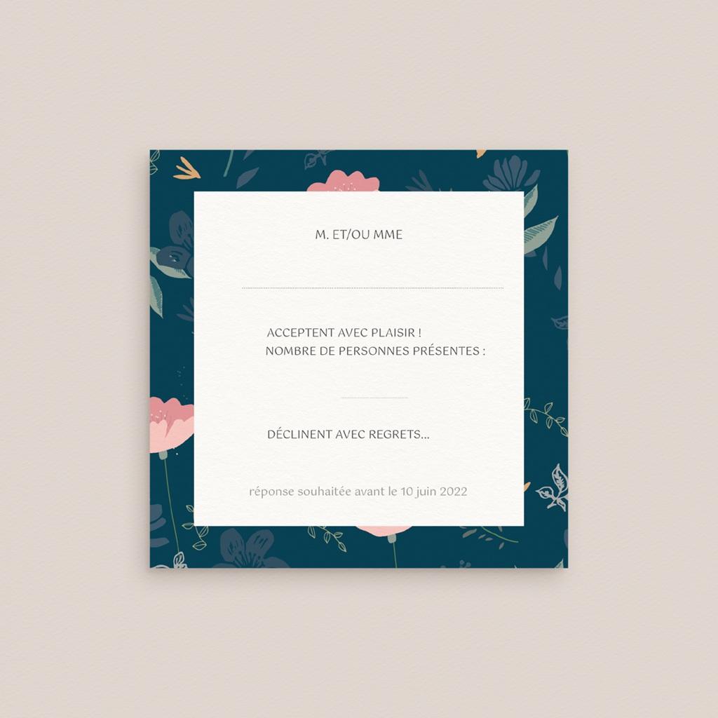 Carton réponse mariage Chabada, Rsvp réception, 10 x 10 pas cher