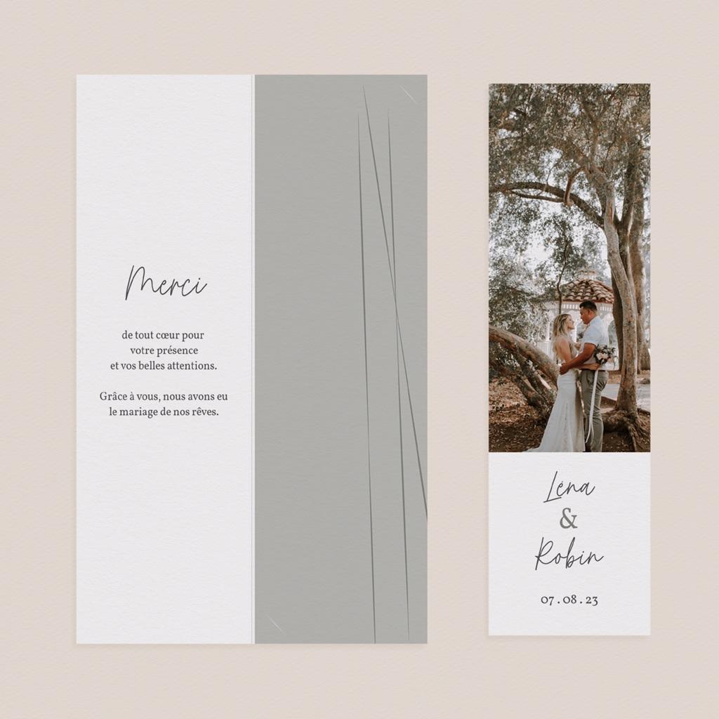 Carte de remerciement mariage Rameaux d'Olivier, 2 en 1 pas cher