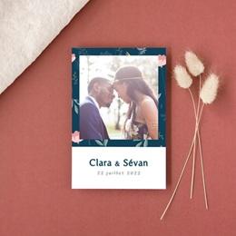 Carte de remerciement mariage Chabada, Portrait mariés, 10 x 15 cm gratuit