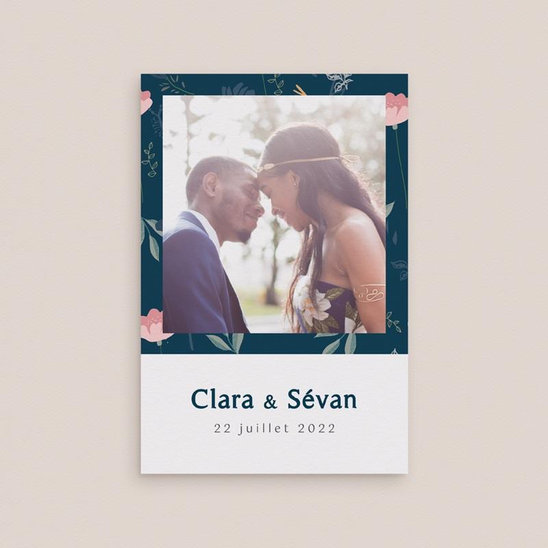 Carte de remerciement mariage Chabada, Portrait mariés, 10 x 15 cm