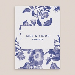 Faire-part de mariage Rhapsody, fleurs Bleues, 15 x 21 cm gratuit