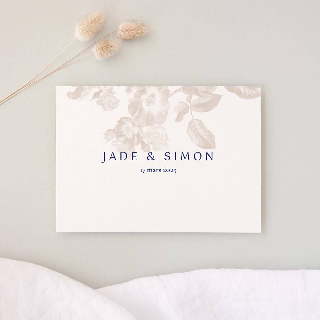 Carte d'invitation mariage Rhapsody, Dîner