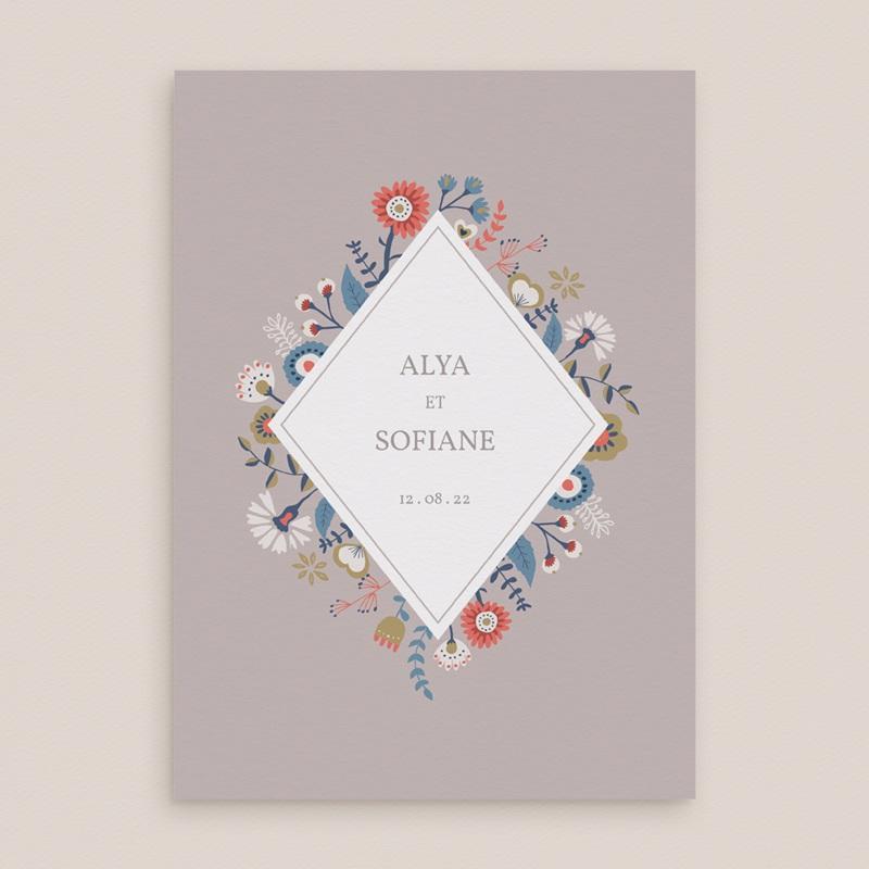 Faire-part de mariage Rhapsody, floral, 15 x 21 cm gratuit